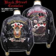 BSC EMBROIDERY JACKET デンジャラス・スカル チャコール
