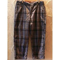 【SALE】 CORISCO/CHECK CROPPED PANTS D.GREY