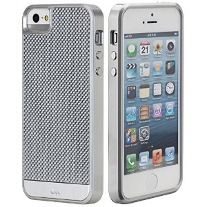Case-Mate 【リアルカーボンファイバー素材採用】 日本正規品 iPhoneSE / 5s / 5 Crafted Case Carbon Fiber, Silver CM026460