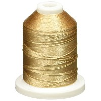 Rayon Super Strength Thread Solid Colors 1100 Yards-New Gold (並行輸入品)