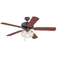 Ellington K11090 Pro Builder 204 Ceiling Fan with Contractor Standard Walnut Blades and Integrated...