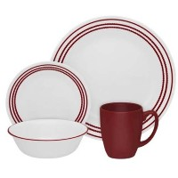 Corelle Livingware Ruby Red 16-pc Dinnerware Set by CORELLE