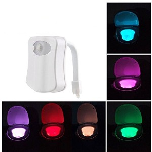 Sky Shopトイレ夜ライト/ 8色変更トイレボディセンサーライト/ LED Motion Activated Night Lights SK