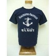 BuzzRickson's[バズリクソンズ] Tシャツ ANCHORS AWEIGH (NAVY)