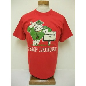 Buzz Rickson's[バズリクソンズ] Tシャツ USMC CAMP LEJEUNE (RED)