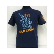 【40%OFF!】THE FEW(フュー)MILITARY Tee[OLD CROW BUD ANDERSON]【在庫処分品/返品・交換不可】NVY /ミリタリー/半袖Tシャツ!