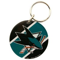 NHL チームロゴ アクリル キーチェーン シャークス San Jose Sharks High Definition Keychain