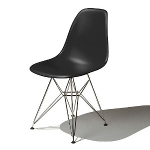 Eames Shell Chair イームズ チェア Side Chair(DSR) /ブラック【smtb-ms】【RCP】.