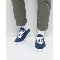 pull&bear perforated trainers in navy 紺 ネイビー 靴 メンズ靴