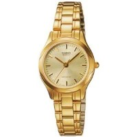 Casio Women's LTP1275G-9A Gold Stainless-Steel Quartz Watch with Gold Dial【並行輸入】