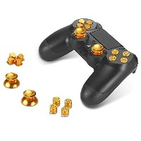 Sony PS4 Playstation 4 Controller Button Set Aluminum - Gold