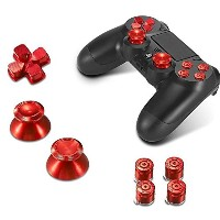 Sony PS4 Playstation 4 Controller Button Set Aluminum - Red