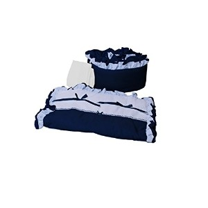 Baby Doll Bedding Regal Cradle Bedding Set, Navy by BabyDoll Bedding