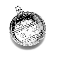 Mikasa Celebrations Ball Ornament Candy Dish by Mikasa