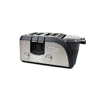 West Bend TEMPR100 Breakfast Station Egg and Muffin Toaster Oven, Silver/Black by West Bend