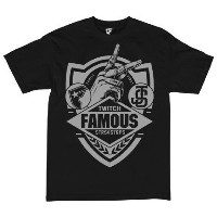 【FAMOUS STARS AND STRAPS】 フェイマススターズアンドストラップス 【JS Family First Shield Mn Mens TEE】Black Msize 【Tシャツ】