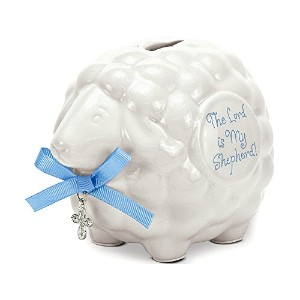 Brownlow Kitchen Lamb Bank with Scripture, Baby Boy by Brownlow Kitchen