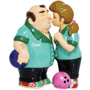 Westland Giftware Mwah磁気Bowlers Salt and Pepper Shaker Set , 4インチ