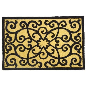 Elegant Frontgate Scroll Accent Area Rug Jellybean by Jellybean