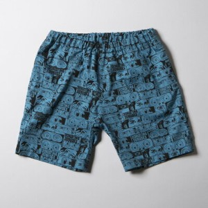 SNOID DISGUSTING DISGUISES Shorts (Turquoise Blue) スノイド 総柄ショーツ/パンツ