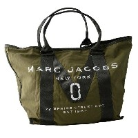 MARC JACOBS マークジェイコブス M0011223-313 Army Green ミリタリーロゴプリント トートバッグ A4サイズ対応 New Logo Tote