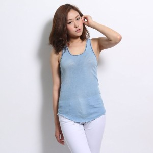 【SALE 70%OFF】ジョーズ JOE'S PURE INDIGO JERSEY (INDIGO TANK)(light wash)