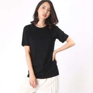 【SALE 65%OFF】デレクラム テン クロスビー DEREK LAM 10 CROSBY s/s 1 pocket t-shirt (black)