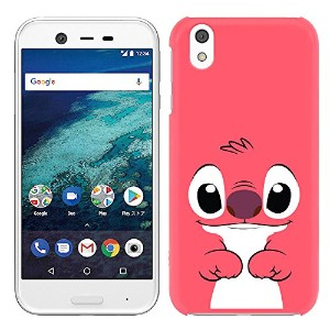 [Breeze] Android One X1 ケース Y!mobile アンドロイド ワン X1 カバー ハードケース スマホケース 液晶保護フィルム付★HotPink