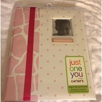Carter's Just One You Baby's First Record Memory Book, Girl, Pink Giraffe/Dots by Carter's