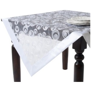 SARO LIFESTYLE 2950.W84S 1-Piece Square Tablecloth, 84-Inch, White [並行輸入品]