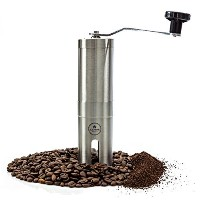 Most Consistent Hand Coffee Grinder & Coffee Press - Ceramic Burr Grinder made with Professional...