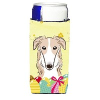 "Caroline 's Treasures bb1910muk "" Borzoi Easter Egg Hunt Michelob Ultra Koozies forスリム缶、マルチカラー"