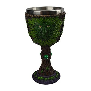 KW CollectibleギフトCo。MedievalグリーンリビングツリーMan Treeman Royal Goblet中世ウィッカケルトワインChalice Drinking Cup