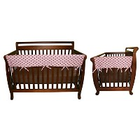 Maya Dot 3 Piece CribWrap Convertible Crib Rail Cover Set by Trend Lab