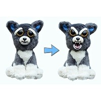 "Feisty Pets by William Mark- Sammy Suckerpunch- Adorable 8.5"" Plush Stuffed Dog That Turns Feisty..."