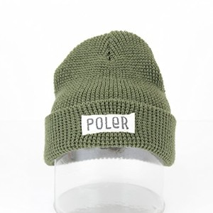 (ポーラー)POLER WORKERMAN BEANIE ARMY GREEN OSサイズ 615002-OLV