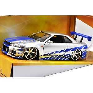 "JadaToys 1:24scale ""FAST & FURIOUS(2 FAST 2 FURIOUS)"" ""BRAIAN'S NISSAN SKYLINE GT-R R34"" ジェイダトイズ 1..."