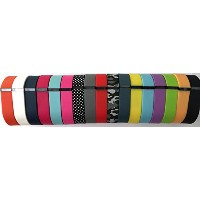 Set 17 Colors Large L Replacement Bands With Clasps for Fitbit FLEX Only /No tracker/ 1pc Black...