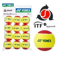 YONEX(ヨネックス)「マッスルパワーボール20(STAGE3 RED) TMP20(12個入り)」キッズ/ジュニア用テニスボール【店頭受取対応商品】
