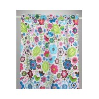 Bacati - Botanical Sanctuary Multicolor Pink Curtain Panel by Bacati
