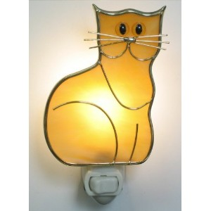 ステンドグラスKitten Cat Night Light
