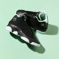 NIKE AIR JORDAN RETRO 13 GG(ナイキ ガールズ エア ジョーダン 13 レトロ GG)(BLACK/METALLIC GOLD-MINT FOAM-WHITE)17FA-S
