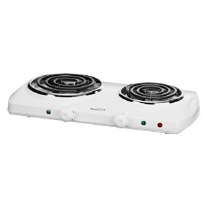 Brentwood TS-368 Electric Double Burner, White [並行輸入品]