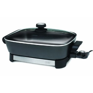 Oster CKSTSKFM05 16-Inch Electric Skillet, Black and Stainless Steel [並行輸入品]