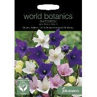【輸入種子】Johnsons SeedsWorld Botanics CollectionPlatycodon Grandiflora Mixedプラティコドン(桔梗)・グランディフローラ...