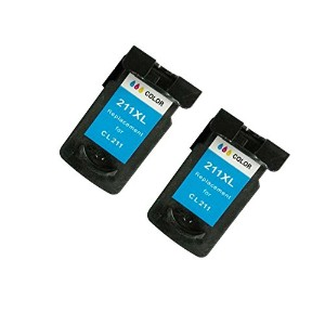 BavvoR Remanufactured ink Cartridge for Canon CL-211XL(Color) use in Canon Pixma MP490 Printer -...