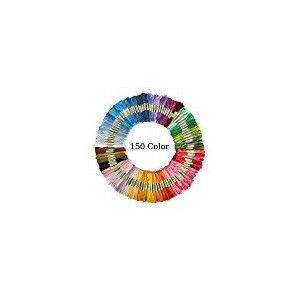 Aerfas 150 Skeins Per Pack of 8M 150-Color Cross Stitch Embroidery Threads Floss Sewing Art Craft