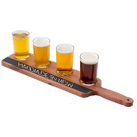 Handmade Deluxe Professional Beer Flight with Chalkboard, 5-Piece by Missing Digit Woodshop