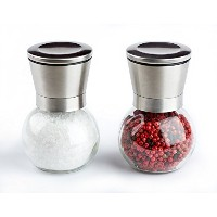 Cucina Chef Stainless Steel and Glass Salt and Pepper Grinder Set by Cucina Chef