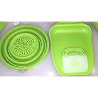 Dexas Collapsible Over the Sink Board (20In x 11.5In) with Chop and Scoop & Scraper by Dexas